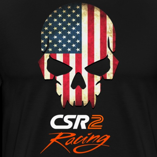 American Flag Skull CSR2 Racing - Men's Premium T-Shirt