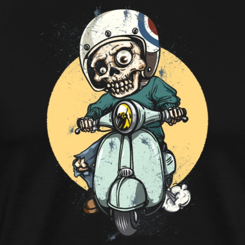 skel biker - Men's Premium T-Shirt