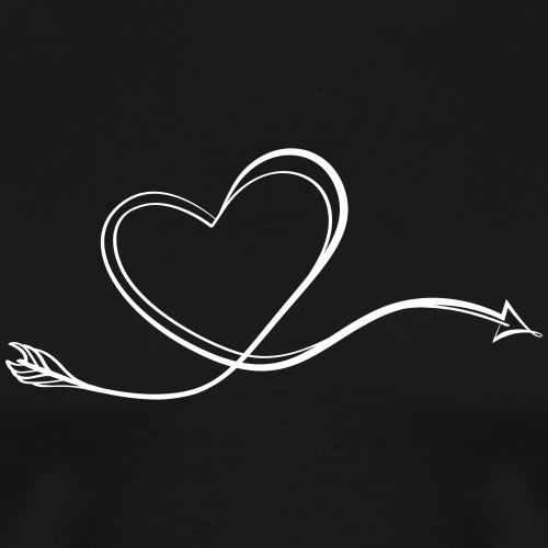 Arrowheart Calligraphy (Archery by BOWTIQUE) - Men's Premium T-Shirt