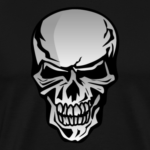 Chrome Skull Illustration - Men's Premium T-Shirt