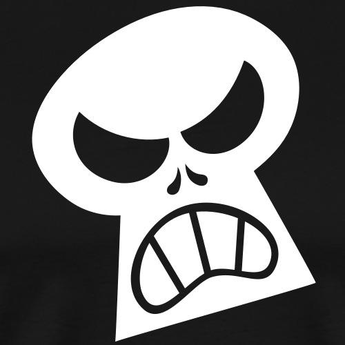 Angry Halloween Skull - Men's Premium T-Shirt