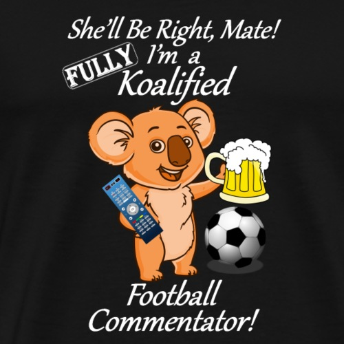 Football Commentator White for Dark Clothes - Men's Premium T-Shirt
