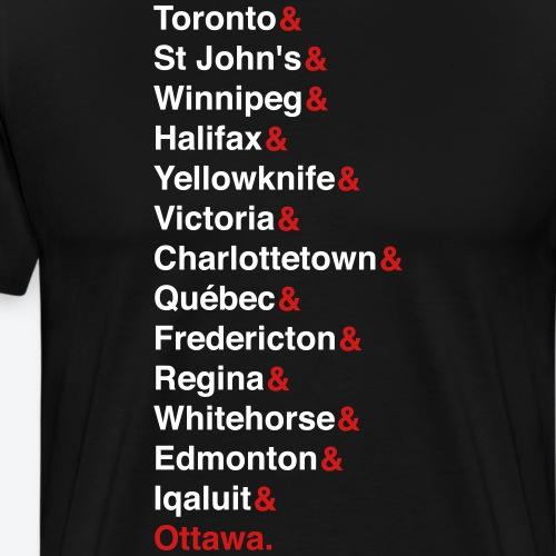 Canada's Capitals - Red & White - Men's Premium T-Shirt