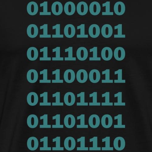 Binary Bitcoin - Men's Premium T-Shirt