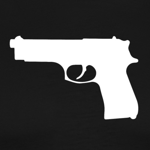 Semi-automatic Handgun Silhouette - Men's Premium T-Shirt