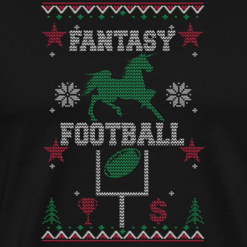 Fantasy Football Ugly Christmas Apparel - Men's Premium T-Shirt