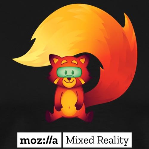 Foxr Sitting (white MR logo) - Men's Premium T-Shirt