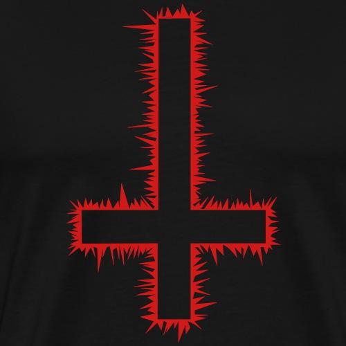 Inverted Cross - Men's Premium T-Shirt