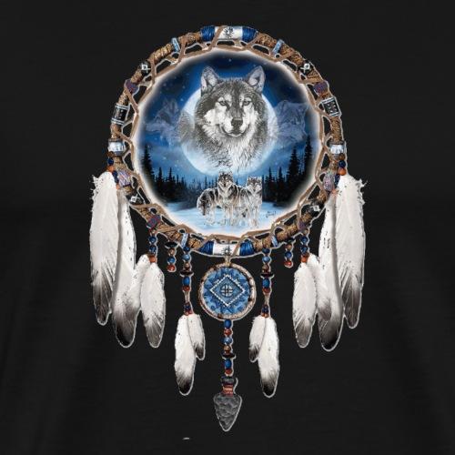 Wolf Dream catcher - Men's Premium T-Shirt