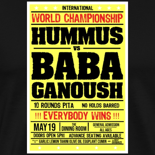 Hummus vs Baba Ganoush - Men's Premium T-Shirt