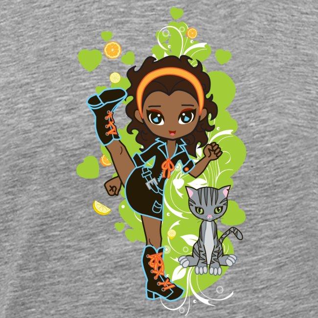 Aisha the African American Chibi Girl