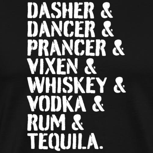 Reindeer and Alcohol List - Men's Premium T-Shirt