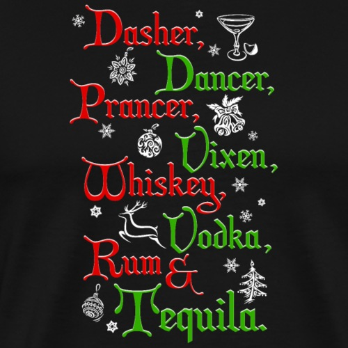 Santa's Reindeer and Drinks - Men's Premium T-Shirt