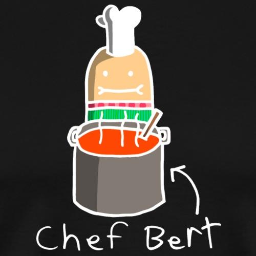 Chef Bert, White Outline (tshirts) - Men's Premium T-Shirt