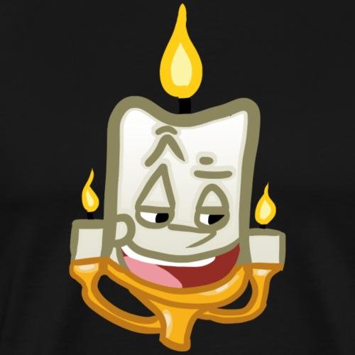 Candle Simple Personification - Men's Premium T-Shirt