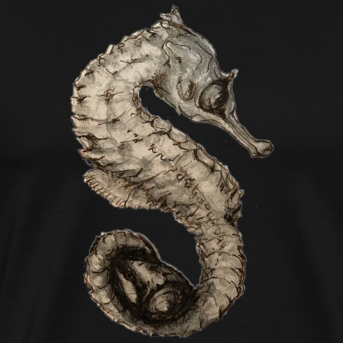 seahorse with sea shell - Men's Premium T-Shirt