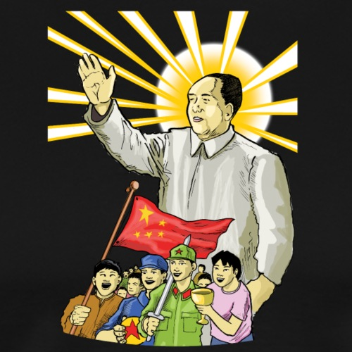 Mao Waves to the People - Men's Premium T-Shirt