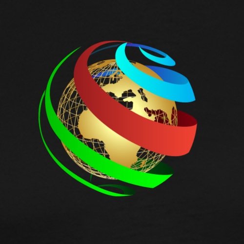 Globe vecto - Men's Premium T-Shirt