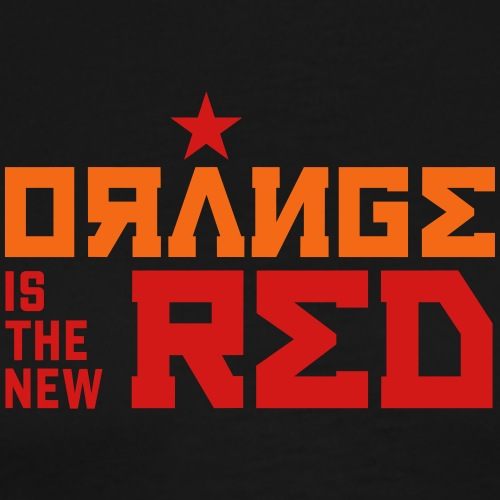 Funny Orange is the New Red - Anti-Trump Political - Men's Premium T-Shirt