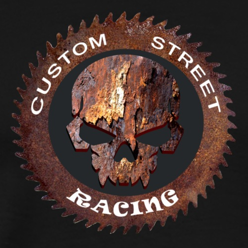 CSR2 Custom Street Racing Rusted Skull Design - Men's Premium T-Shirt