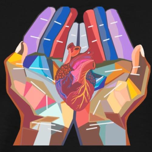 Heart in hand - Men's Premium T-Shirt
