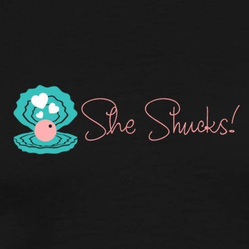 sheshuckslogo - Men's Premium T-Shirt