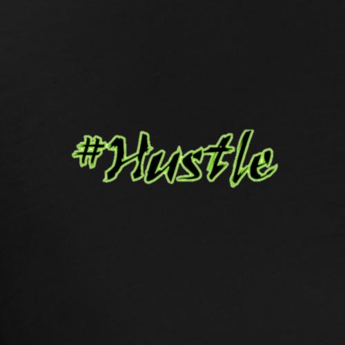 #Hustle Green/black- small words - Men's Premium T-Shirt