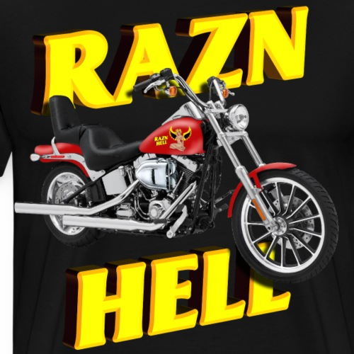 Motorcycle Razn Hell - Men's Premium T-Shirt