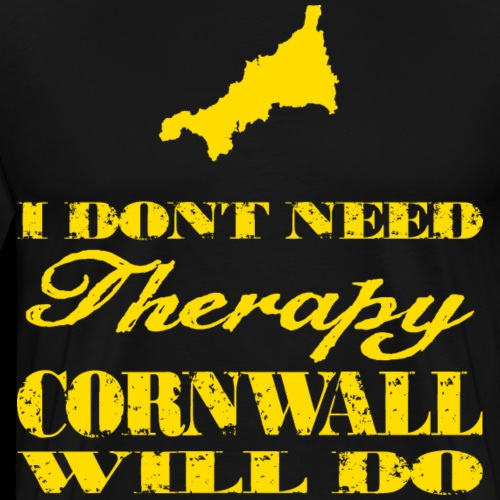 Don't need therapy/Cornwall - Men's Premium T-Shirt