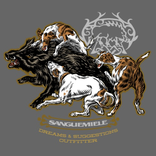 wild_boar_and_hounds - Men's Premium T-Shirt