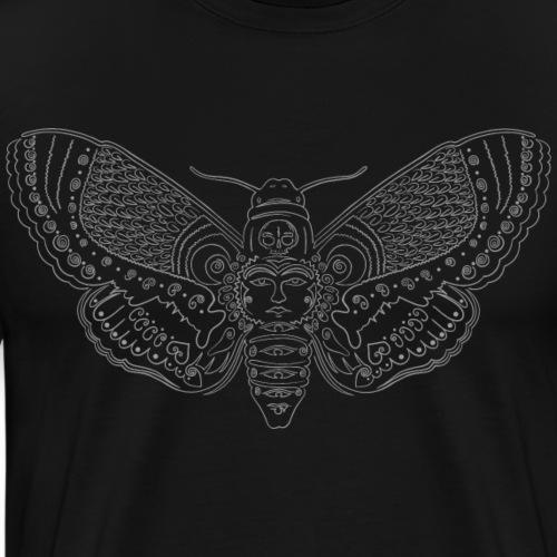 feaf64b05a5479 Minimalist moth summer tattoo - Men's Premium T-Shirt