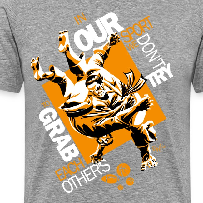 Judo Grab Design for dark shirts