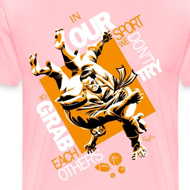 Judo Shirt BJJ Shirt Grab Design for dark shirts