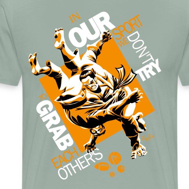 Judo Grab Design for dark shirts