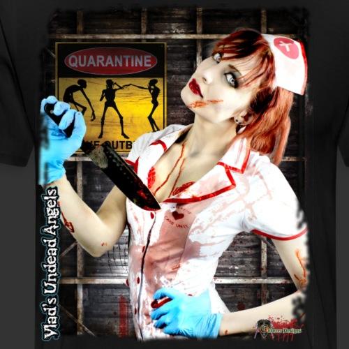 Live Undead Angels: Zombie Nurse Abigail - Men's Premium T-Shirt