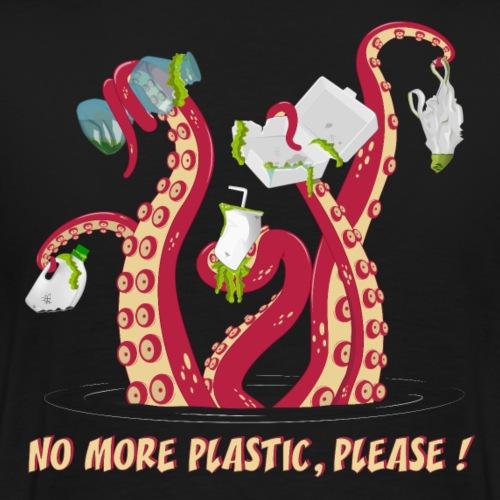 Octopus No More plastic - Men's Premium T-Shirt