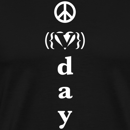 v day v heart peace vrtl - Men's Premium T-Shirt