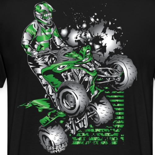 Yamaha ATV Grunge Quad - Men's Premium T-Shirt