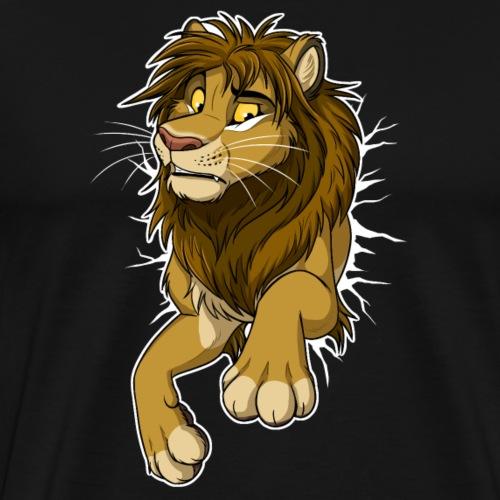STUCK Lion (white cracks) - Men's Premium T-Shirt