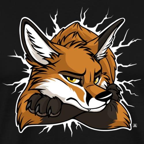 STUCK grumpy Fox Red (double-sided) - Men's Premium T-Shirt