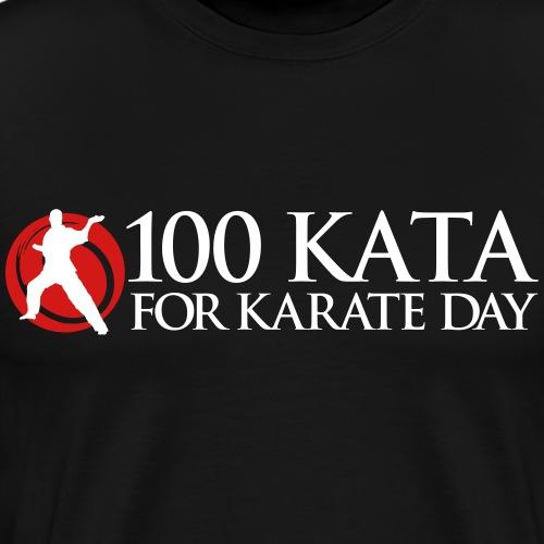 100 Kata for Karate Day - Men's Premium T-Shirt