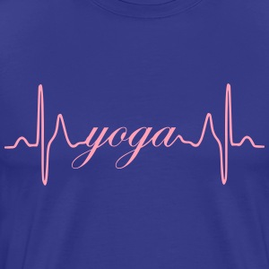 Yoga ECG Heartbeat - Men's Premium T-Shirt