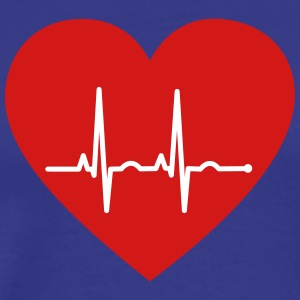 EKG Heart - Men's Premium T-Shirt