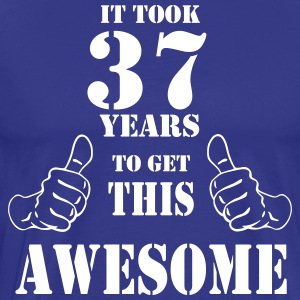 37th Birthday Get Awesome T Shirt Made in 1980 - Men's Premium T-Shirt