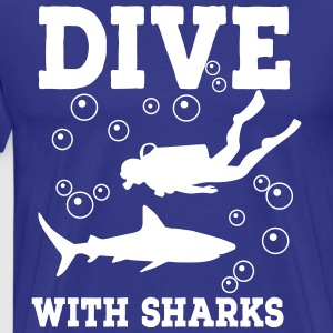 Shark Diving Shirt - Men's Premium T-Shirt