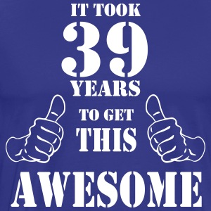 39th Birthday Get Awesome T Shirt Made in 1978 - Men's Premium T-Shirt
