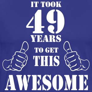 49th Birthday Get Awesome T Shirt Made in 1968 - Men's Premium T-Shirt