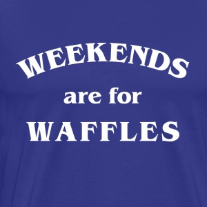Waffles in White - Men's Premium T-Shirt