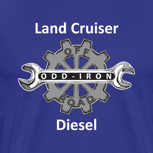 ODIO Land Cruiser Diesel Shirt White 8 27 2017 - Men's Premium T-Shirt