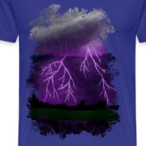 Purple Lightning Scene - Men's Premium T-Shirt